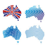 Australian map Logos Royalty Free Stock Images