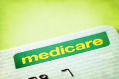 Australian Medicare Card Royalty Free Stock Photography