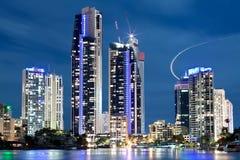 Australian modern city at night stock photo