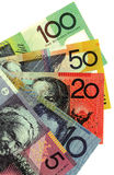 Australian money. A background of Australian money banknotes. Copyspace stock image