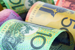 Australian Money Background. Background of Australian money, in close-up.  Soft-focus