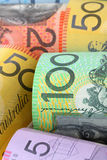 Australian Money Background. Background of Australian notes, soft-focus