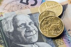 Australian Money Background royalty free stock image