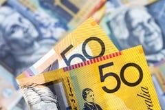 Australian Money Background Stock Photography