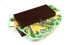 Australian money in a box Stock Photo