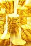 Australian Money Coins Gold Background Stock Image