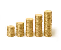 Australian Money Coins Stacks Dollars Stock Photos