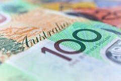Australian money. Australian currency close up photo Royalty Free Stock Image