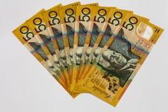 Australian Money $50 Dollar Notes stock image