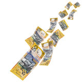 Australian Money Falling Stock Image