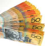 Australian money fan Royalty Free Stock Image