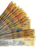 Australian money fan Royalty Free Stock Photography