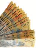 Australian money fan. Fan made of Australian 50 dollar bills royalty free stock photography