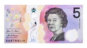 Australian Money Five Dollar Note Royalty Free Stock Photo