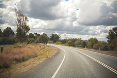 Australian mountain highway Stock Image