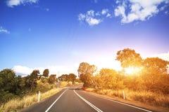 Australian mountain road Royalty Free Stock Photo