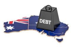 Australian national debt or budget deficit, financial crisis con Stock Image