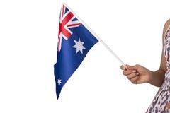 Australian national flag on white background. Stock Photography