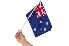 Australian national flag on white background. Stock Images
