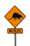 Australian native wildlife roadsign Stock Photos