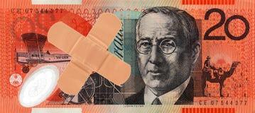 Australian nota de vinte dólares fotografia de stock royalty free