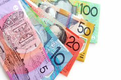 Australian Notes royalty free stock photo