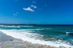 Australian ocean beach with people bathing Stock Photos