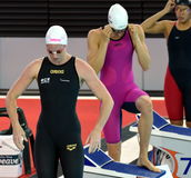 Australian olympian and world champion swimmer Emily SEEBOHM Royalty Free Stock Photography
