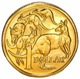 Australian One Dollar Coin. Australian one dollar coin on a white background Stock Photography