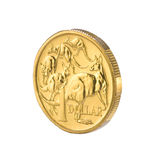 Australian One Dollar Coin Money Royalty Free Stock Image