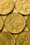 Australian One Dollar Coins Stock Photo