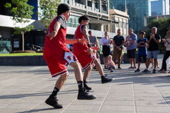 2016 Australian Open - Melbourne Street Performers. MELBOURNE/AUSTRALIA - JANUARY 22: Street performers entertaining crowds in Southbank during the 2016 Stock Photos