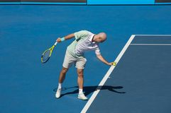 Australian Open Tennis 2010. Australian Open Tennis tournament, Ivan Ljubicic, CRO - Croatia, 2010 Royalty Free Stock Photos