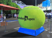Australian Open tennis. Big tennis ball display at Australian Open tennis Stock Photos