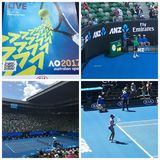 2017 Australian Open tennis. Centre Court at Melbourne Park for Grand Slam tennis Royalty Free Stock Photos