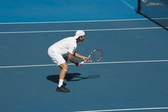 Australian Open Tennis, Fernando Gonzalez. Australian Open Tennis tournament with top single seed player, Fernando Gonzalez Chile Royalty Free Stock Images