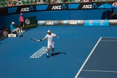 Australian Open Tennis, Fernando Gonzalez. Australian Open Tennis tournament with top single seed player, Fernando Gonzalez from Chile Stock Photo