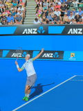Australian Open tennis match. Kevin Anderson plays at Australian Open Royalty Free Stock Photography