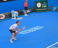 Australian Open tennis match. Richard Gasquet play at Australian Open Stock Photos