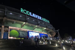 Australian Open tennis Rod Laver Arena. People visit Australian Open tennis at Rod Laver Arena Royalty Free Stock Photography