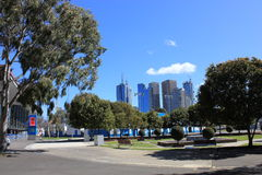 Australian Open. View of Melbourne from Australian Open tennis courts stock images