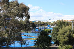 Australian Open. View of Australian Open tennis courts Royalty Free Stock Photo