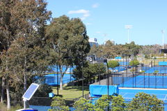 Australian Open. View of Australian Open tennis courts royalty free stock image