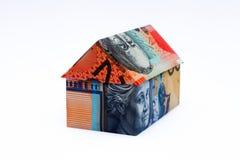 Australian Origami Money House Royalty Free Stock Photos