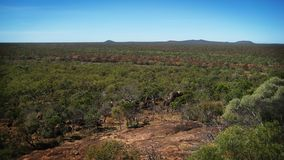 Australian outback. With a blue sky Stock Image