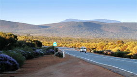 Australian Outback highway traffic stock video footage