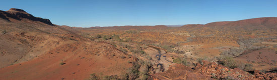 Australian outback panorama Royalty Free Stock Photos