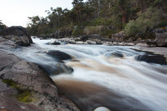 Australian outback river in evening dusk Stock Photo