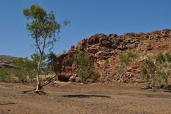 Australian outback rock outcrop drought Stock Photo