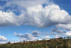 Australian outback rural scene. Idyllic rural Australian landscape with cloudy sky Royalty Free Stock Image